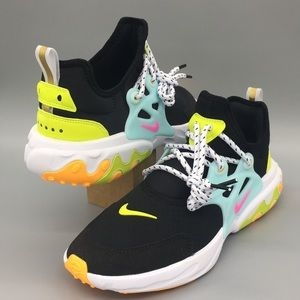 NIKE REACT PRESTO (GS) Black/psychic pink-teal tin